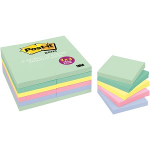 "Post-it® Notes Value Pack, 1 3/8"" x 1 7/8"" Marseille Collection"