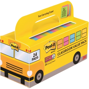 Post-it® Super Sticky Notes Classroom Value Pack
