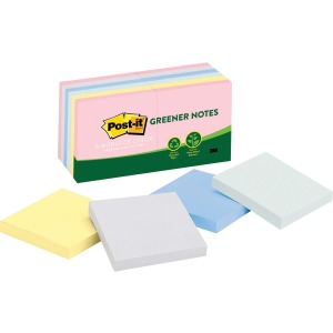 Post-it Greener Notes, 3 in x 3 in, Helsinki Color Collection