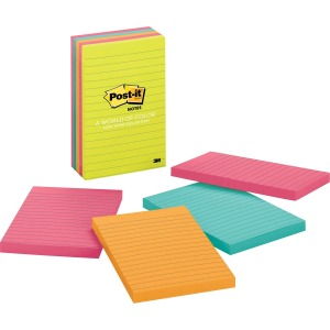 "Post-it® Notes 4""x6"" Pads in Capetown Colors"