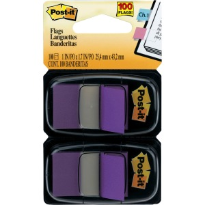"Post-it® Flags, 1"" Wide, Purple 2-pack"