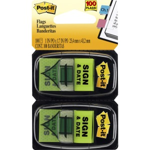 Post-it® Message Flags - 2 Dispensers