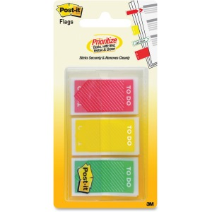 "Post-it® Flags, 1"", ""To Do"" , Red-Yellow-Green"