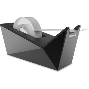 "Scotch® Desktop Tape Dispenser, Metallic Black, 1"" Core"