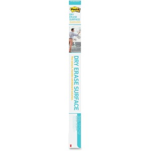 Post-it Self-Stick Dry Erase Film Surface, 96 x 48, White