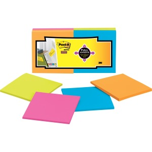 "Post-it® Super Sticky Full Adhesive Notes, 3"" x 3"", Rio de Janeiro Collectio"