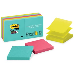 "Post-it® Super Sticky Pop-up Notes, 3""x 3"", Miami Collection"