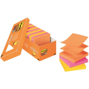 "Post-it® Super Sticky Pop-up Notes, 3"" x 3"", Rio de Janeiro Collection"