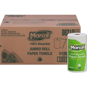 Marcal 100% Recycled, Jumbo Roll Paper Towels