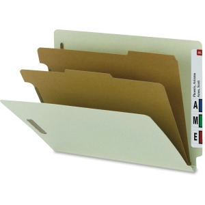 Nature Saver 2-divider End Tab Classification Folder