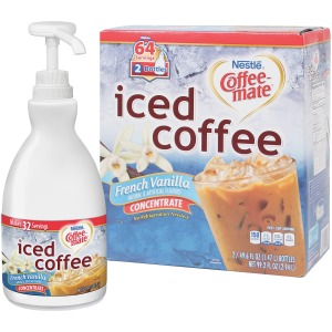 Coffee-Mate French Vanilla Iced Coffee - 1.5L Liquid Pump Bottles