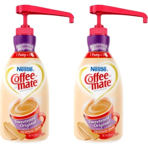 Coffee-Mate Coffee Creamer Sweetened Original - 1.5L Liquid Pump Bottle