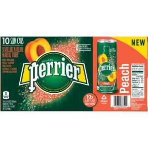 Perrier Slim Can Mineral Water Beverage
