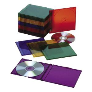 SKILCRAFT Multi-color Slim CD Jewel Cases