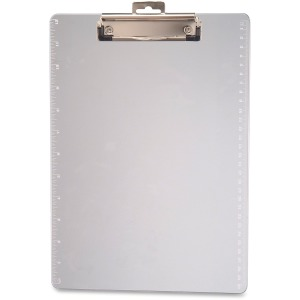 Officemateplastic Clipboard, 1/2  Capacity, Holds 8 1/2 X 11, Clear