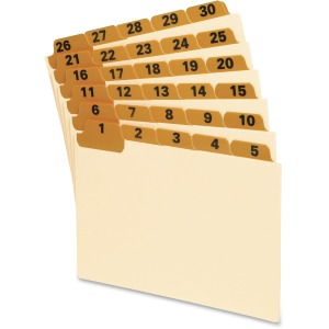 Oxford 1-31 Laminated Tab Manila Card Guides