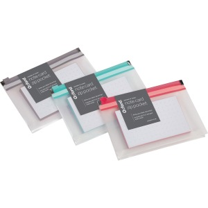 Oxford Easy Label Note Card Zip Pocket