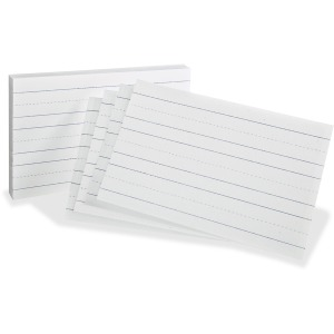 Oxford Primary Ruled Index Cards