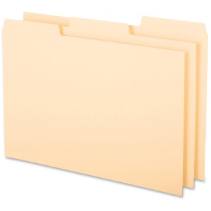 Oxford 1/3 Cut Blank Tab Index Card Guides