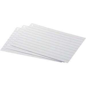 Oxford Front/Back Ruled Index Cards