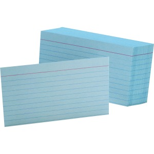 Oxford Colored Ruled Index Cards
