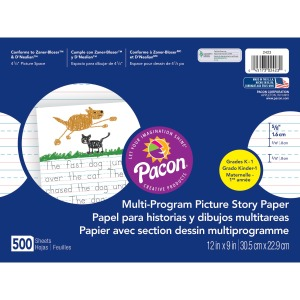 Pacon Multi-program Ruled Picture Story Paper