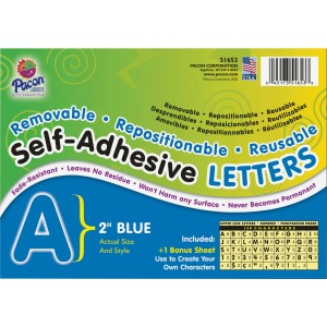 Pacon Reusable Self-Adhesive Letters