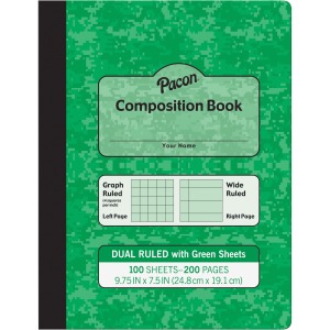 Pacon Dual Ruled Composition Book