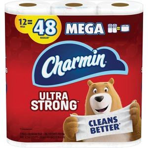Charmin Ultra Strong Bath Tissue, 2 Ply, 286 Sheets/Roll, 12 Rolls / Pack