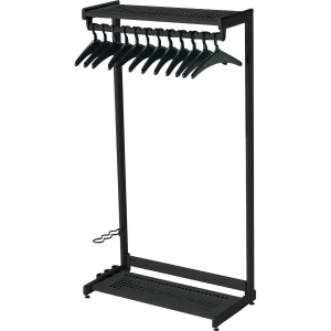 Quartet Two-Shelf Garment Rack - Freestanding - 12 Hangers Included