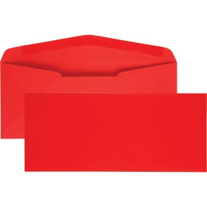 Quality Park No. 10 Red Business Envelopes