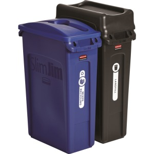 Rubbermaid Commercial Slim Jim 2-container Recycling Set