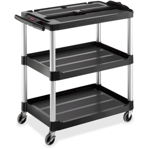 Rubbermaid Commercial Open 3-shelf Audio-Visual Cart