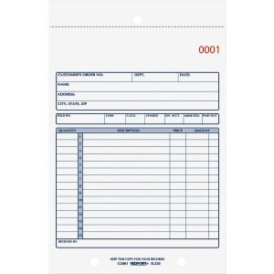 Rediform 2-Part Carbonless Sales Forms
