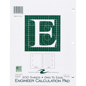Roaring Spring Engineer Calculation Pads - Letter