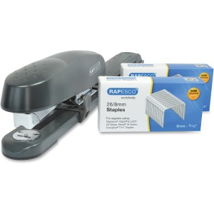 Rapesco 790 Long Arm Stapler with Staples Set