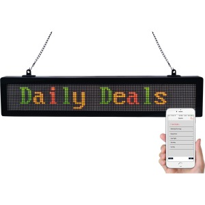 "Royal Sovereign 22.5"" scrolling message sign with bluetooth"