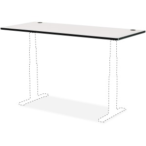 Safco Gray Laminate Electric Height-Adjustable Table Tabletop
