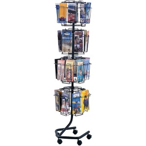 Safco Rotary Wire Brochure Display Stand