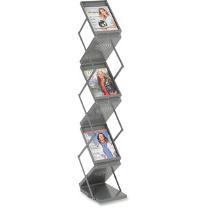 Safco Double Sided Folding Literature Display