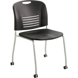 Safco Vy Straight Leg Stack Chairs with Casters