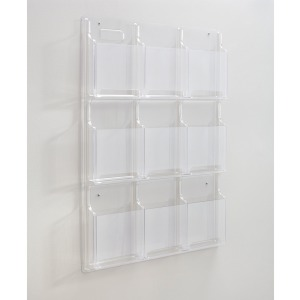 Safco 9-Pocket Magazine/Literature Display Rack