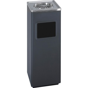 Safco Sandless Square Ash Urn/Trash Receptacle