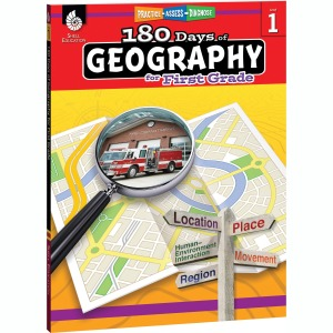 Shell Education 180 Days of Geography Resource Printed Book