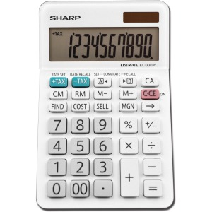 Sharp EL-330WB 10 Digit Professional Desktop Calculator