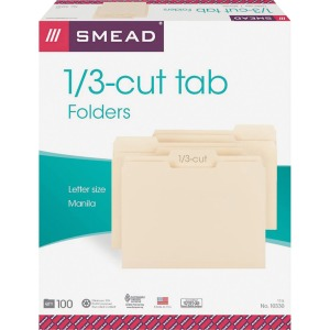Smead 1/3 Cut Tab Manila File Folders
