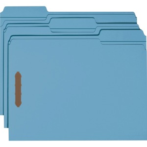 Smead 100% Recycled Colored Fastener Folders