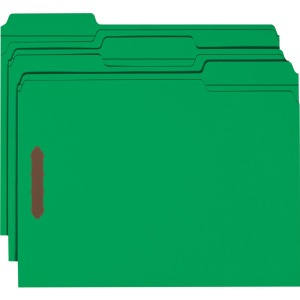 Smead 100% Recycled Fastener File Folders