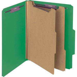 Smead PressGuard® Classification Folders with SafeSHIELD® Coated Fastener Technology