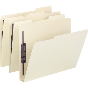 Smead Extra-Capacity Manila Fastener Folders with SafeSHIELD® Coated Fastener Technology